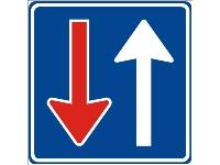 F06 Tegenkomen en verkeersborden