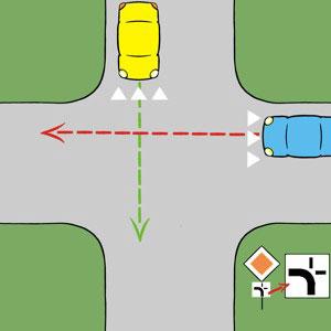 afbuig2 Afbuigende voorrangsweg