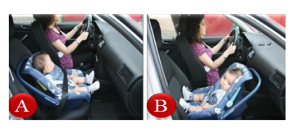 baby-voorin Categorie E Gebruik gordels en helmen; zitplaats voor passagiers