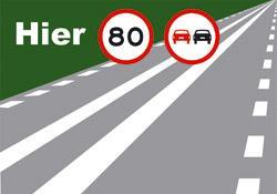 ontsluitingsweg_inhaalverbod Strepen op de weg en snelheid