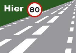 ontsluitingsweg_inhalen Strepen op de weg en snelheid