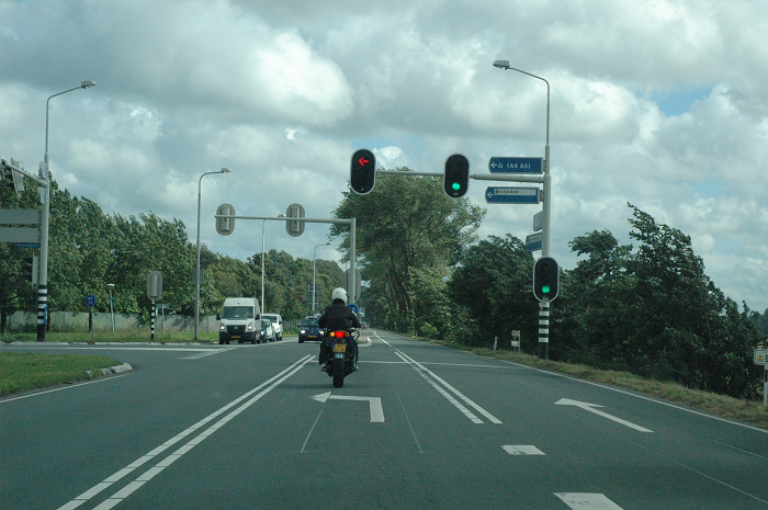 verkeerslicht met pijl