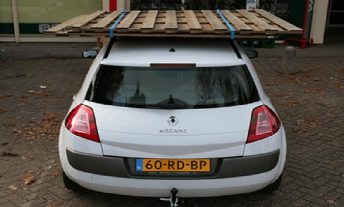 zijkant-15-centimeter Categorie C Inrichting, belading en slepen van voertuigen