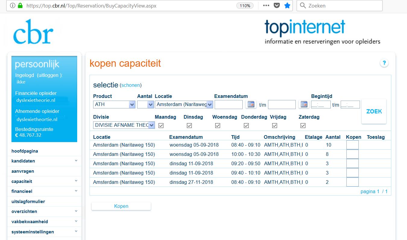 cbr-datums-amsterdam-rijschool Cbr examen capaciteit