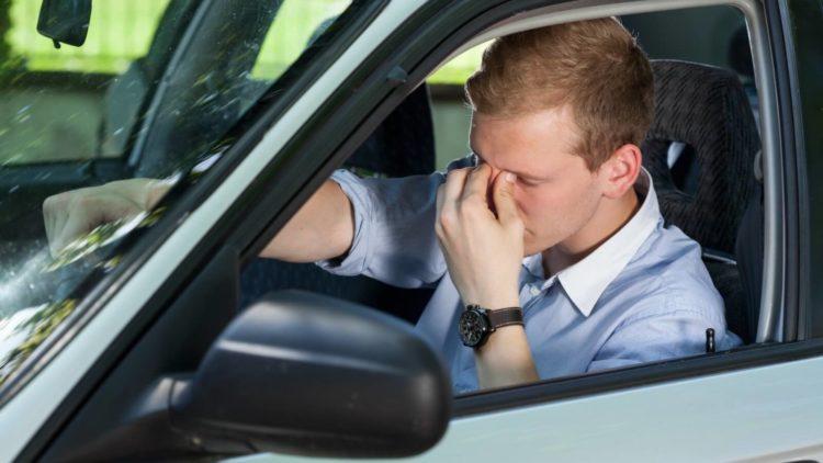 vermoeide chauffeur