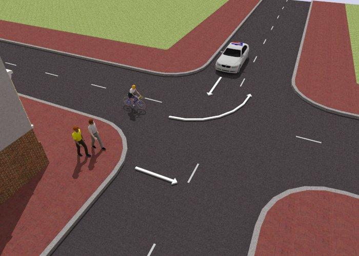 voetgangers-11 Categorie O Voor laten gaan van blinden, gehandicapten en voetgangers