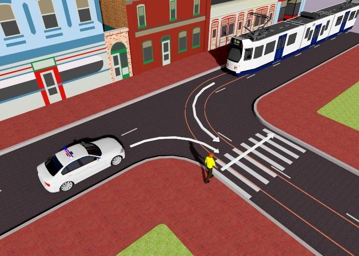 voetgangers-4 Categorie O Voor laten gaan van blinden, gehandicapten en voetgangers