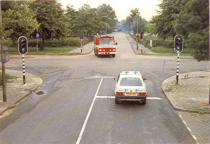 brandweer-1 Categorie P Voor laten gaan van voorrangsvoertuigen, militaire colonnes en trams