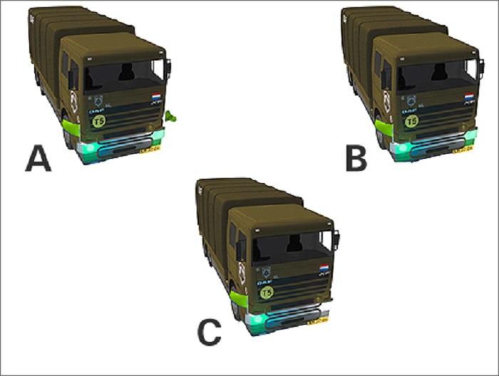 militaire-2 Categorie P Voor laten gaan van voorrangsvoertuigen, militaire colonnes en trams