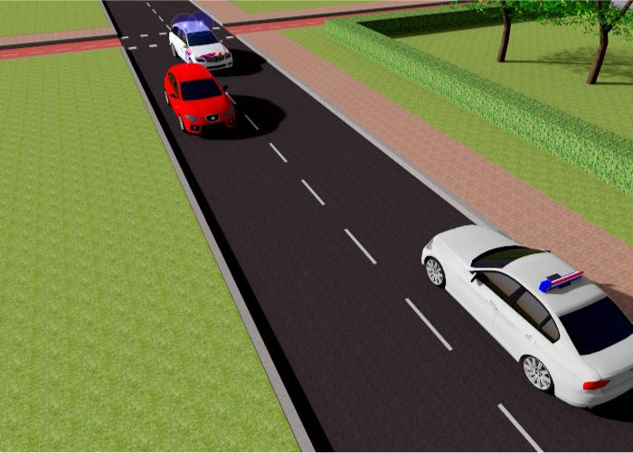 politie-1 Categorie P Voor laten gaan van voorrangsvoertuigen, militaire colonnes en trams