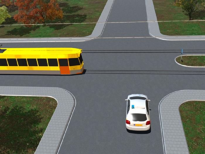 tram-1 Categorie P Voor laten gaan van voorrangsvoertuigen, militaire colonnes en trams