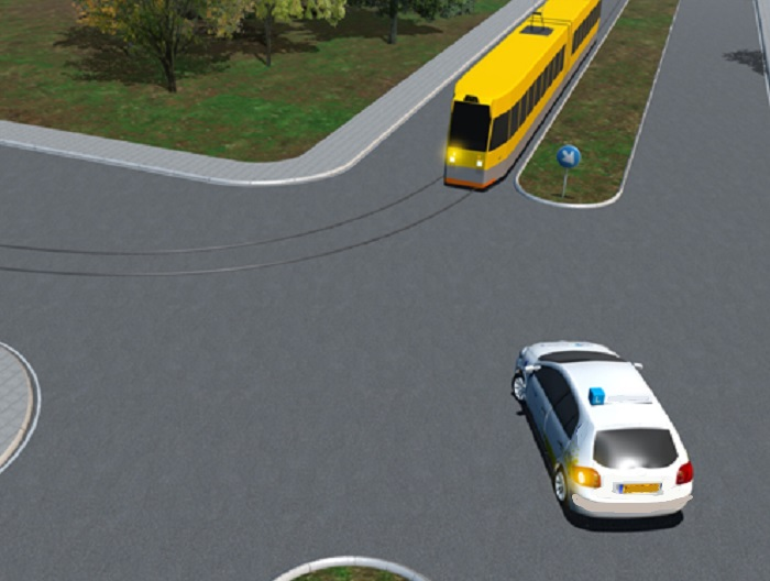 tram-3 Categorie P Voor laten gaan van voorrangsvoertuigen, militaire colonnes en trams