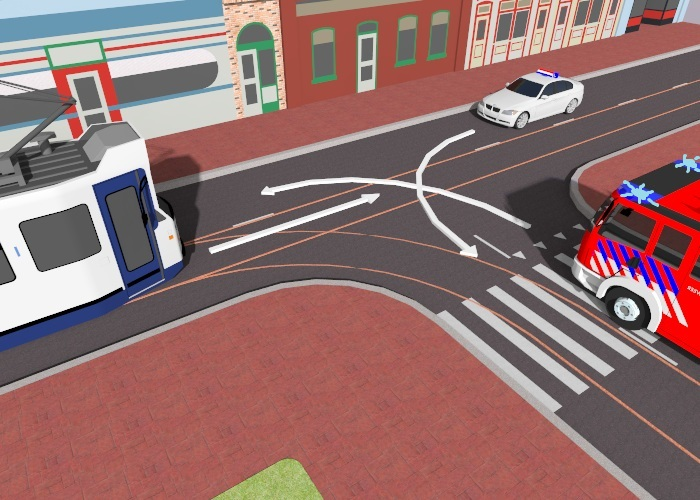 voorrangsvoertuigen-2 Categorie P Voor laten gaan van voorrangsvoertuigen, militaire colonnes en trams