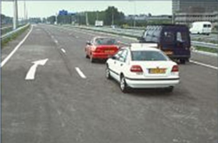 plaats-13 Categorie R Plaats op de weg en voorsorteren