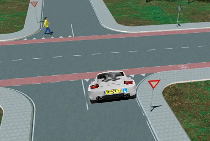 voetgangers-15ba Categorie O Voor laten gaan van blinden, gehandicapten en voetgangers