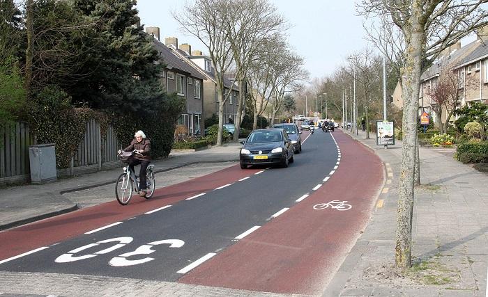 29-fietsstrook Categorie Z Verkeerstekens op het wegdek