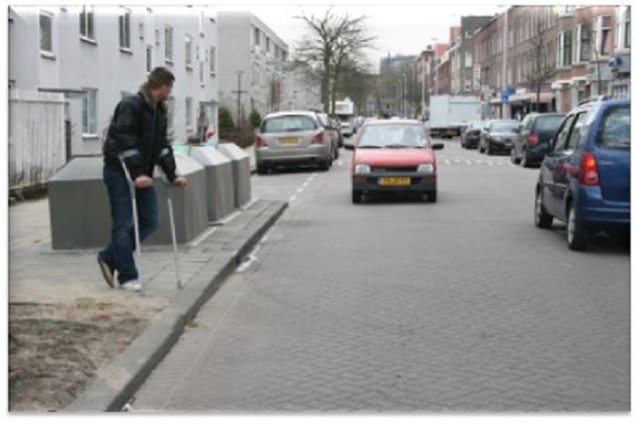 voetgangers-a54 Categorie O Voor laten gaan van blinden, gehandicapten en voetgangers