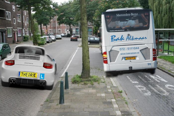 bus-1 Categorie Q Uitvoeren van / voor laten gaan bij bijzondere manoeuvres